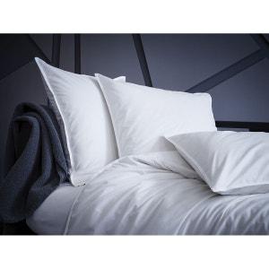 Taie d'oreiller rectangulaire - percale (120 fils/cm²) - uni blanc gros grain blanc BLANC CERISE