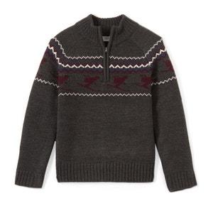 Trui in grof tricot met opstaande kraag La Redoute Collections