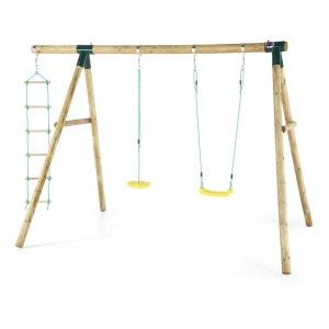 Portique en bois avec balançoires et échelle PLUM
