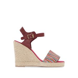 Athena Leather Wedge Sandals PARE GABIA