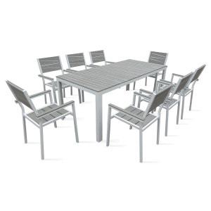 Table de jardin 8 places aluminium et polywood OVIALA