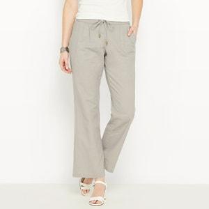 Pantalón ancho, mayoritariamente de lino ANNE WEYBURN