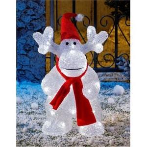 Superbe décoration de Noël ! - Caribou lumineux acrylique - 40 LED blanches - Intérieur et extérieur ! NONAME