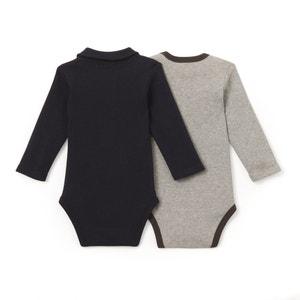 2er-Pack Bodys für Babys, Baumwolle La Redoute Collections