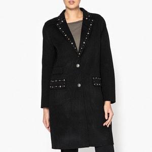 Manteau long boutonnée avec détails cloutés THE KOOPLES