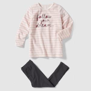 Pyjama in jersey en fluweel abcd'R