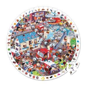 Puzzle d'observation rond 208 pièces : Pompiers de l'extrême JANOD