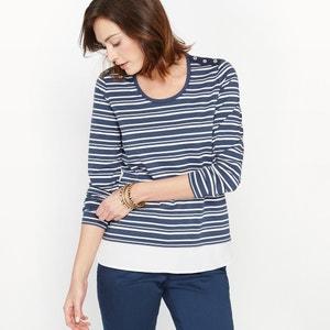 T-shirt rayé, 2 en 1 ANNE WEYBURN