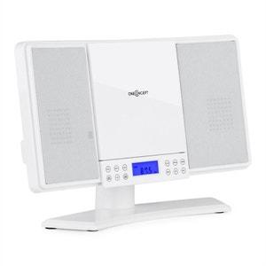 oneConcept V14 Mini chaîne HiFi stereo lecteur CD MP3 tuner radio FM AUX ONECONCEPT
