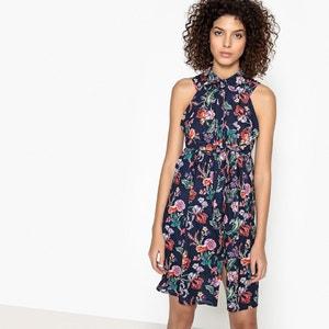 Halflange wijd uitlopende jurk zonder mouwen SEE U SOON
