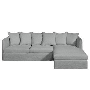 Canapé d'angle fixe Neo Chiquito, lin épais AM.PM