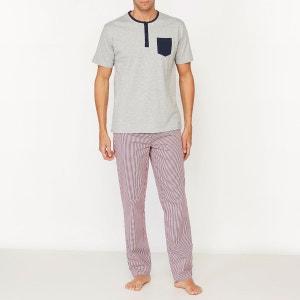 Pyjama avec pantalon à carreaux La Redoute Collections