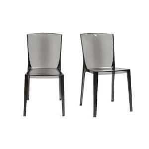 Chaises design lot de 2 empilables ISLAND MILIBOO