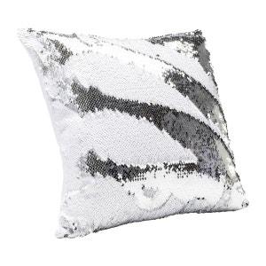 Coussin Disco blanc et argent 40x40cm Kare Design KARE DESIGN
