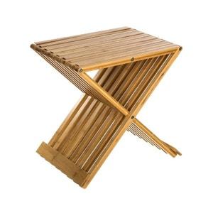 Tabouret pliant en bambou 40x32x45cm PIER IMPORT