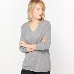 Kaszmirowy sweter z cienkiej dzianiny, dekolt w serek ANNE WEYBURN