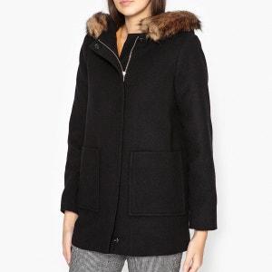 Manteau zippé à capuche aspect fourrure PAVONE LA BRAND BOUTIQUE COLLECTION