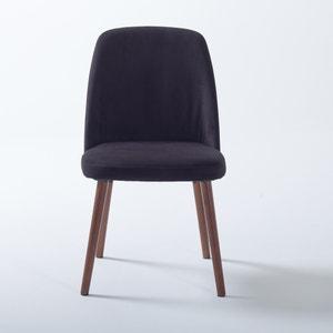 Cadeira em veludo e nogueira, WATFORD, (lote de 2) La Redoute Interieurs