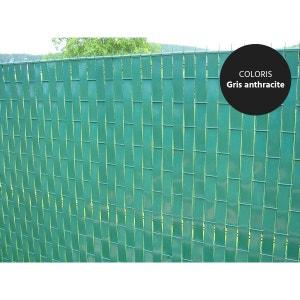 Lanière PVC pour palissade largeur 43 mm x 60 m+100 clips- Gris JARDIDECO