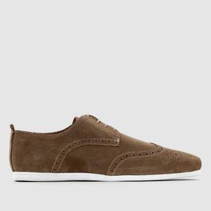 Sapatos derbies em pele com biqueira perfurada CASTALUNA FOR MEN