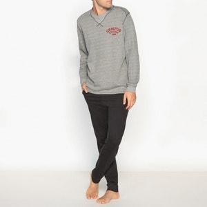 Pyjama manches longues jersey 100% coton ATHENA