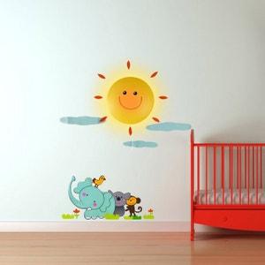 Lampe et Stickers Soleil et Animaux KAS DESIGN
