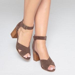 Sandales cuir brides croisées La Redoute Collections