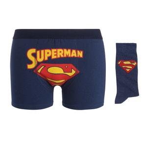 Boxershort en sokken in koffer, SUPERMAN SUPERMAN