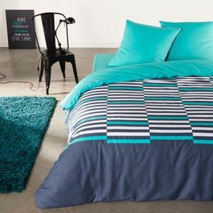 Irregular Stripes Cotton Duvet Cover and Pillowcase Set La Redoute Interieurs