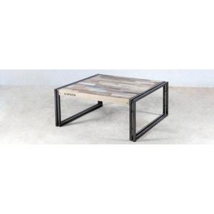 Table basse carrée bois recyclé 80x80 CARAVELLE PIER IMPORT