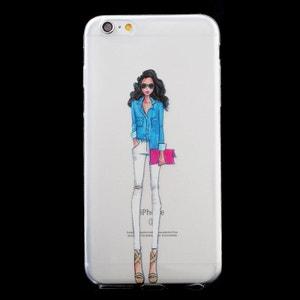 Coque souple La Parisienne avec Sac Rose pour iPhone 6/6S AMAHOUSSE