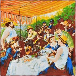 Carré de soie SilkArt Auguste Renoir Déjeuner des canotiers - 85x85 cm SILKART