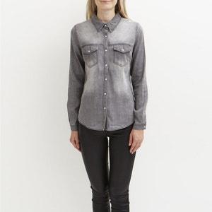 Camisa entallada de manga larga VILA