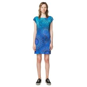 Kurzes Kleid mit gerader Schnittform, bedruckt DESIGUAL