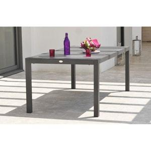 Table en aluminium et plateau duranite noir LE REVE CHEZ VOUS