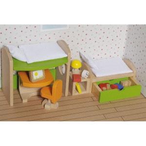 Maison de poupées : Mobilier chambre d'enfants (avec jouets) GOKI