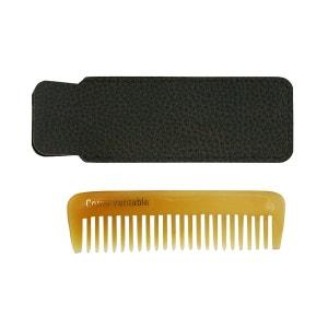 Peigne barbe en corne véritable avec étui ALTESSE