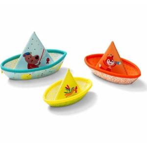 Jouet pour le bain : 3 petits bateaux LILLIPUTIENS