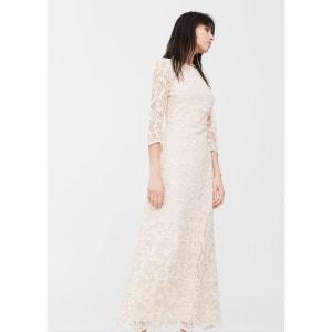 Robe longue dentelle MANGO