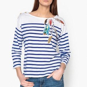 T shirt marinière manches longues à motif THILA LEON AND HARPER