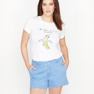 Banana Print Slogan T-Shirt CASTALUNA