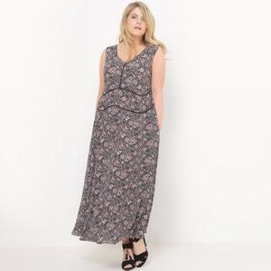 Długa sukienka z nadrukiem, bez rękawów CASTALUNA