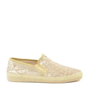 Slippers pailletées beige SACHA