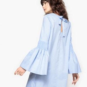 Robe en coton, manches à smocks La Redoute Collections