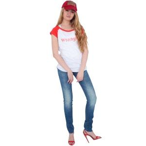 Tee Shirt Mc Raglan Kabel Logo Wrangler Blanc Rouge WRANGLER
