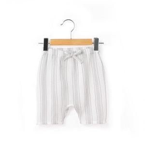 Pantaloni alla turca a righe crêpe di cotone 0 mesi-2 anni R essentiel