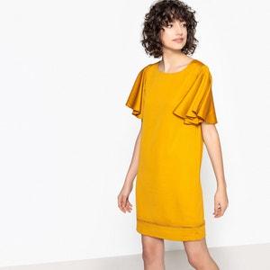 Korte effen rechte jurk met korte mouwen LPB WOMAN