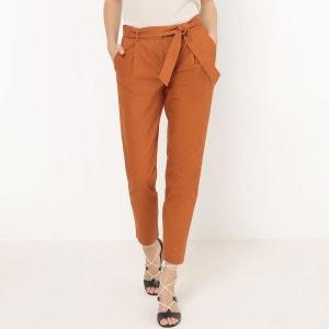 Pantalon carotte, uni La Redoute Collections
