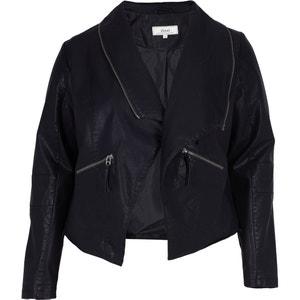 Sophisticated Faux Leather Open Jacket ZIZZI