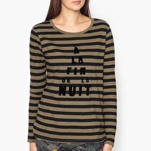 Striped Slogan T-Shirt MAISON SCOTCH